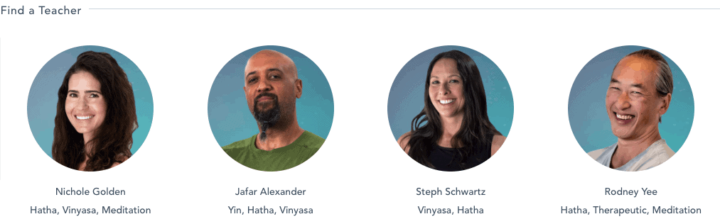 Gaia Yoga Online Teachers on the platform