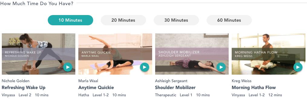Gaia Yoga Online Short Classes