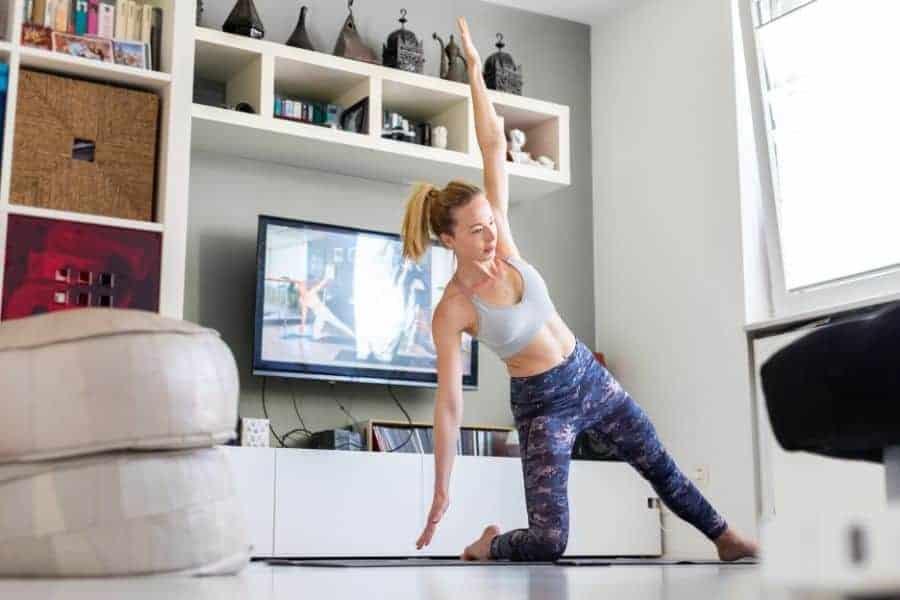 Watching the Yoga Burn DVD program at home