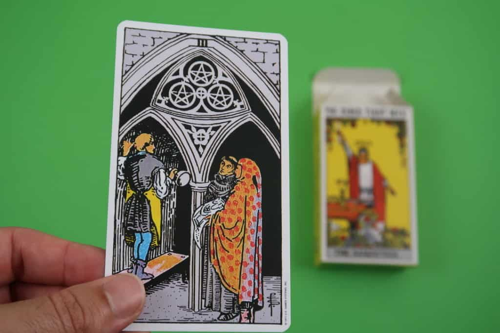 Psychic reading of The Three of Pentacles Upright