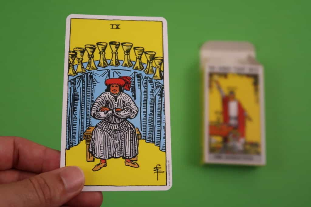 Psychic reading of The Nine of Cups Upright