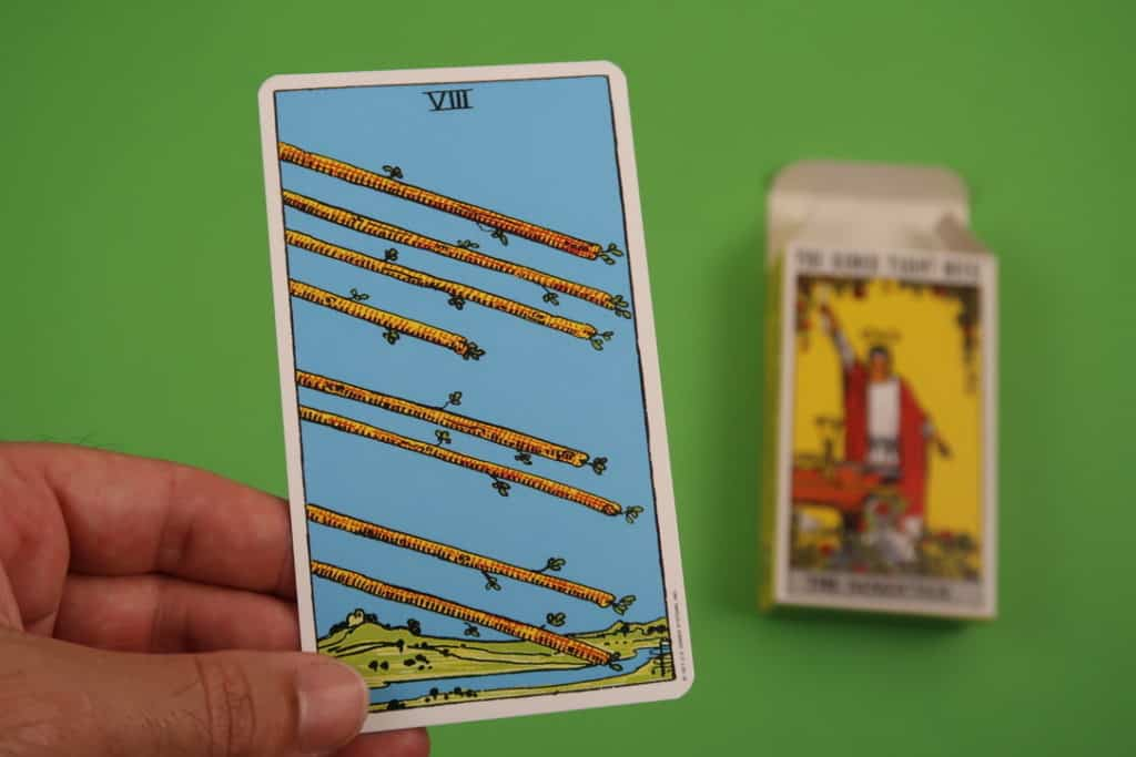 Psychic reading of The Eight of Wands Upright