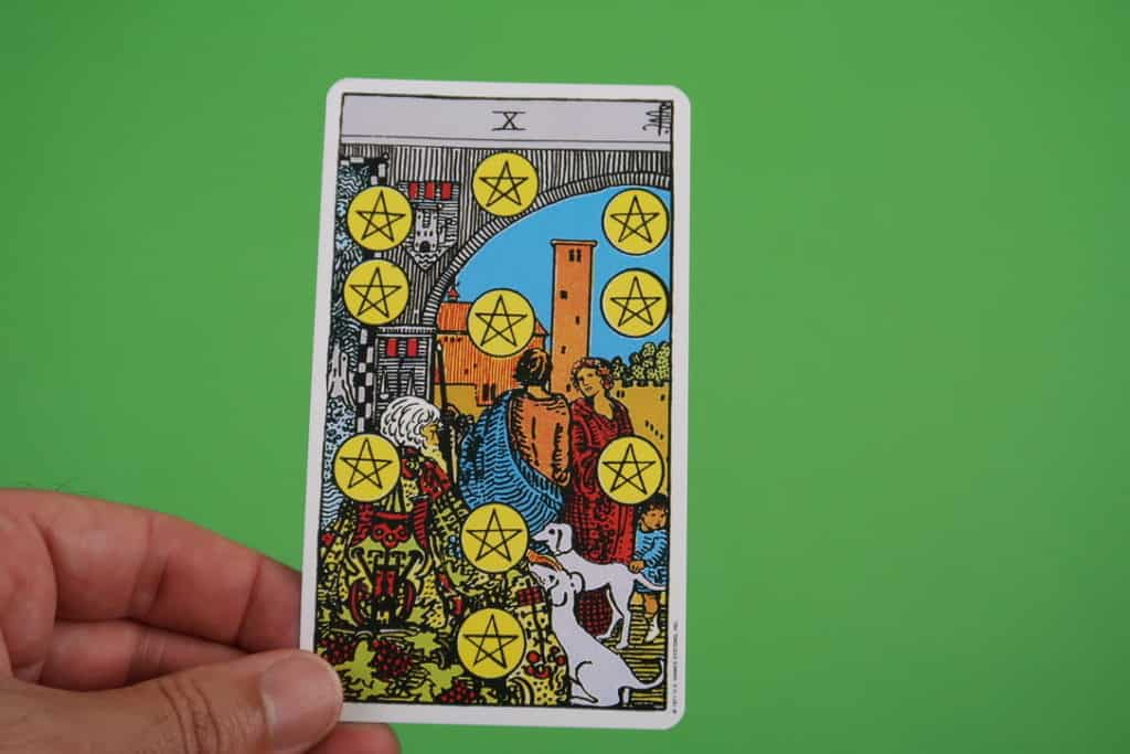 The meaning of The Ten of Pentacles Upright