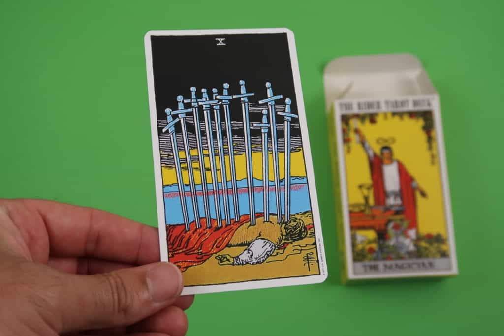 Psychic reading of The Ten of Swords Upright