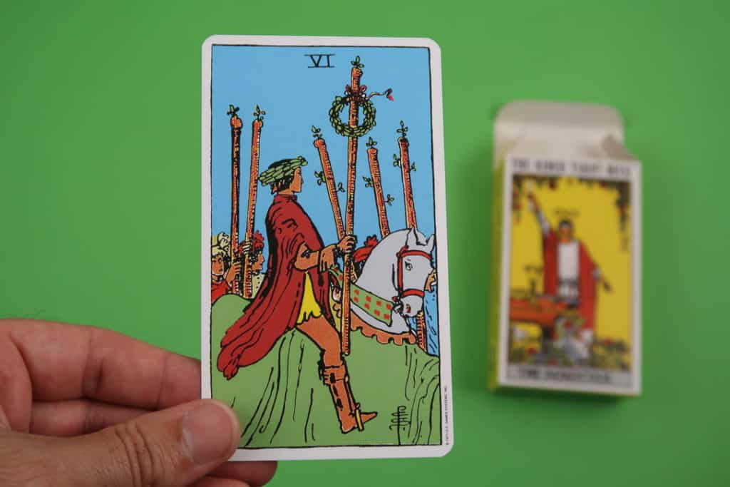Psychic reading of The Six of Wands Upright