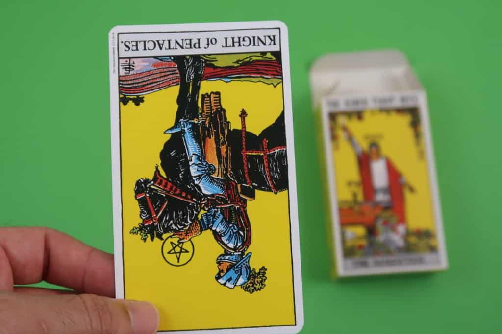 Yocean Yogi psychic reading The Knight of Pentacles reversed online