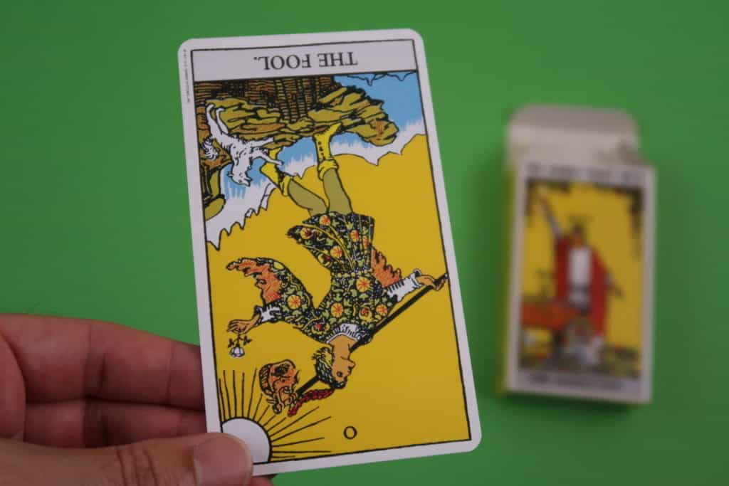The Fool Reversed meaning