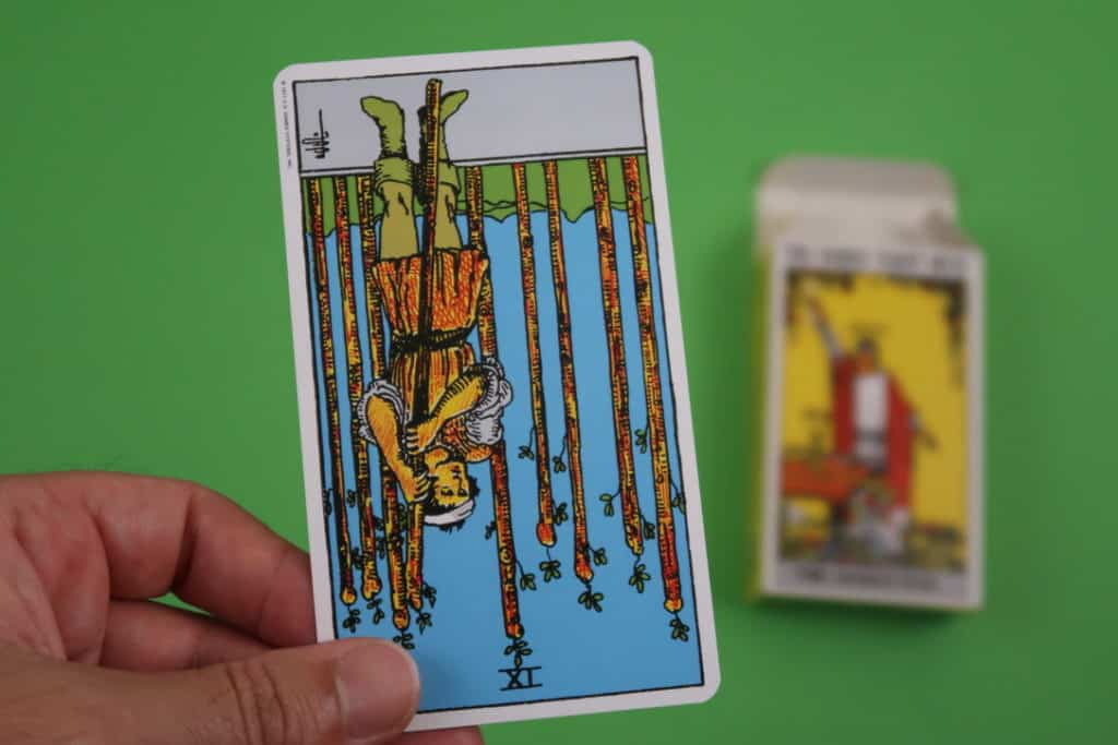 Psychic reading of The Nine of Wands Reversed