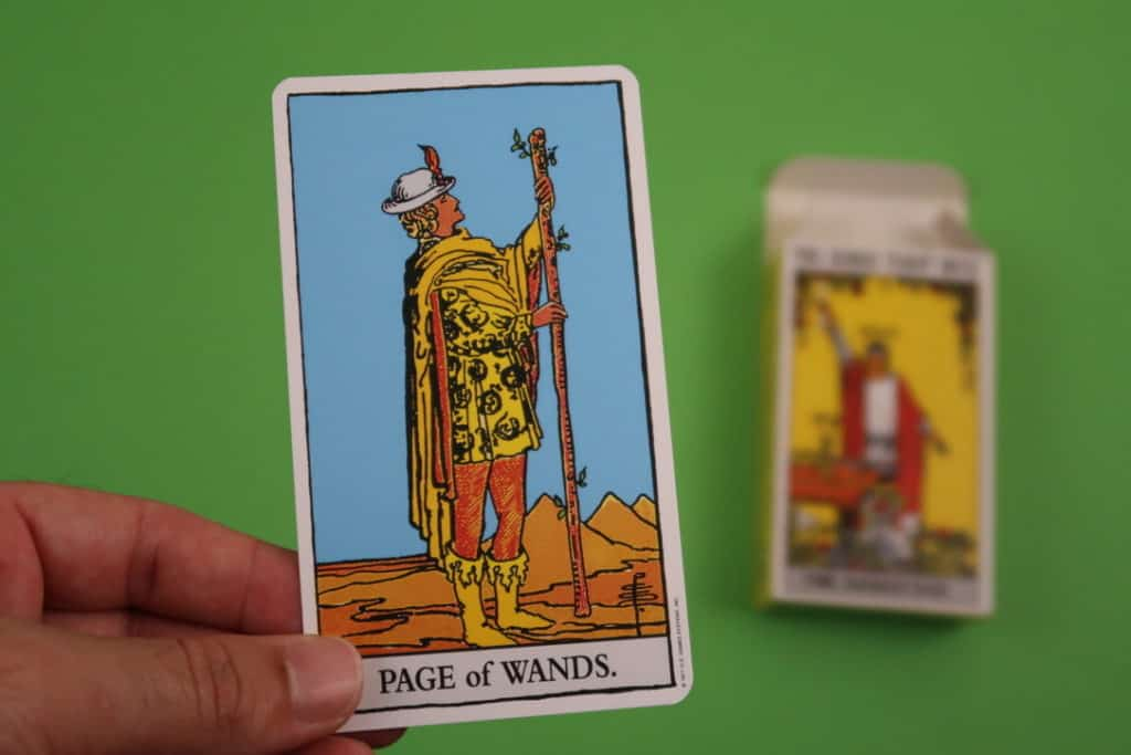 Psychic reading of The Page of Wands upright