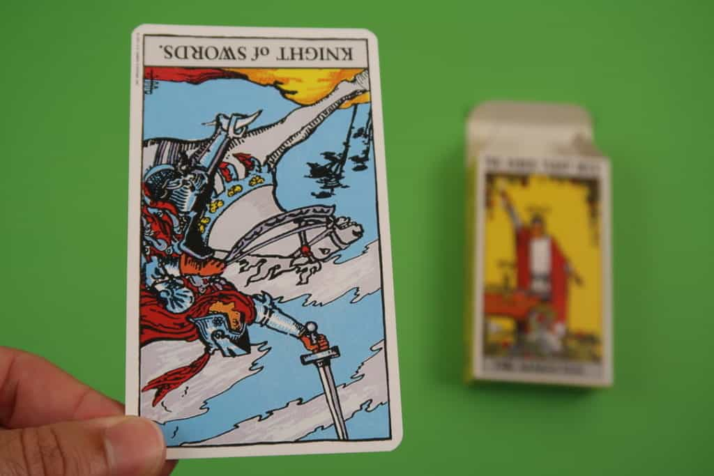 Psychic reading of The Knight of Swords Reversed