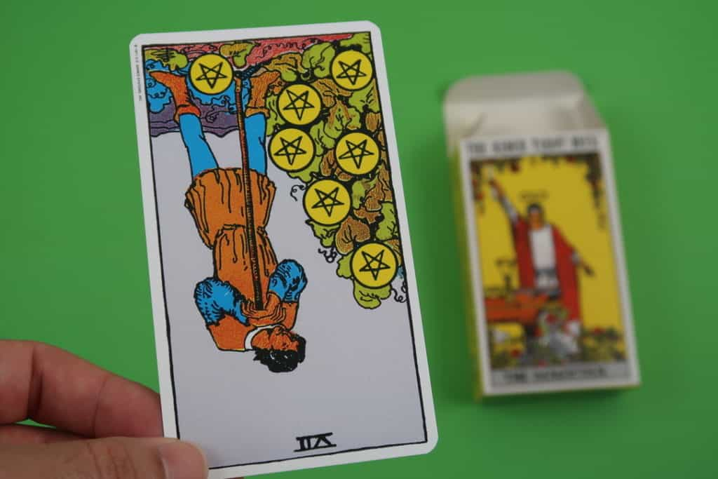 Our psychic analysis of The Seven of Pentacles reversed