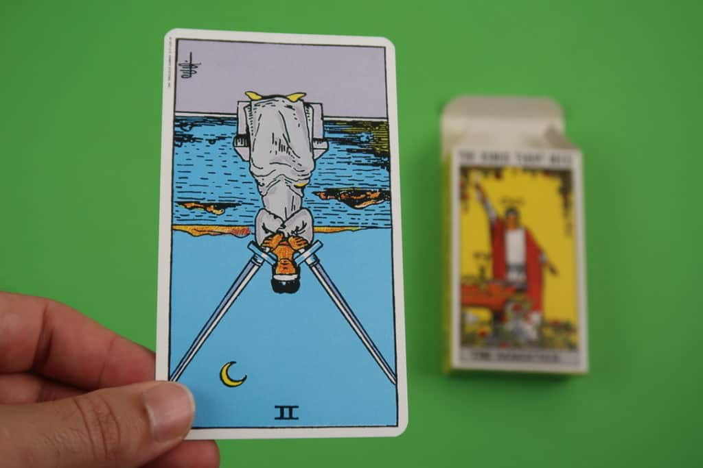 Psychic reading of The Two of Swords Reversed