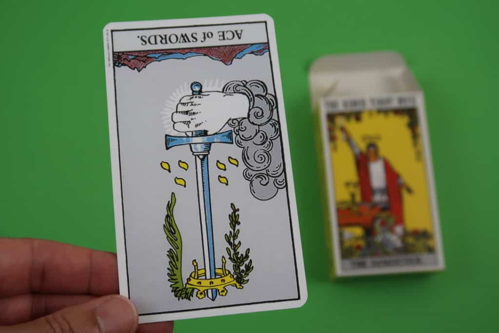 Psychic reading of The Ace of Swords Reversed