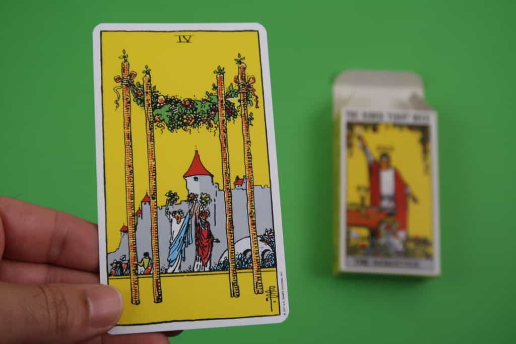 Yocean Yogi psychic reading of The Four of Wands upright