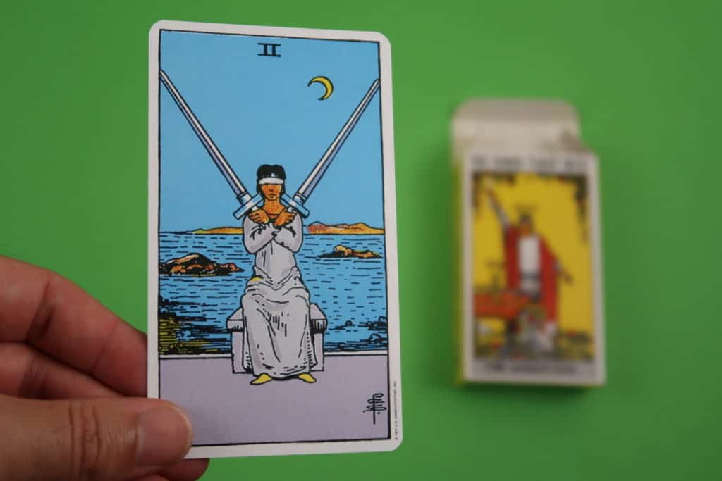 Psychic reading of The Two of Swords Upright