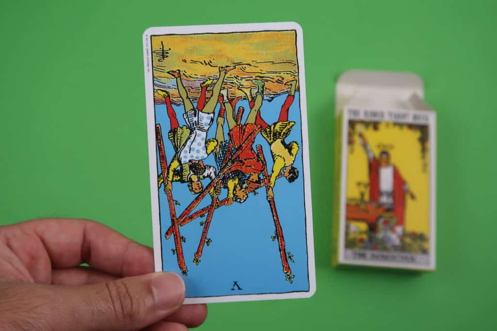 Psychic reading of The Five of Wands Reversed