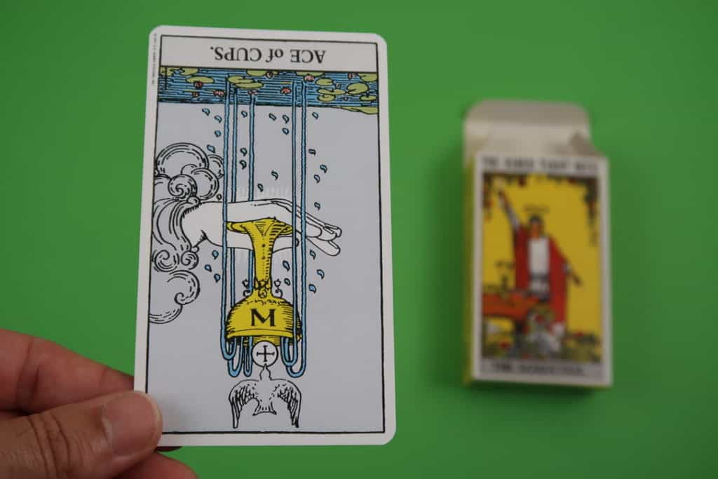 Psychic reading of The Ace of Cups Reversed