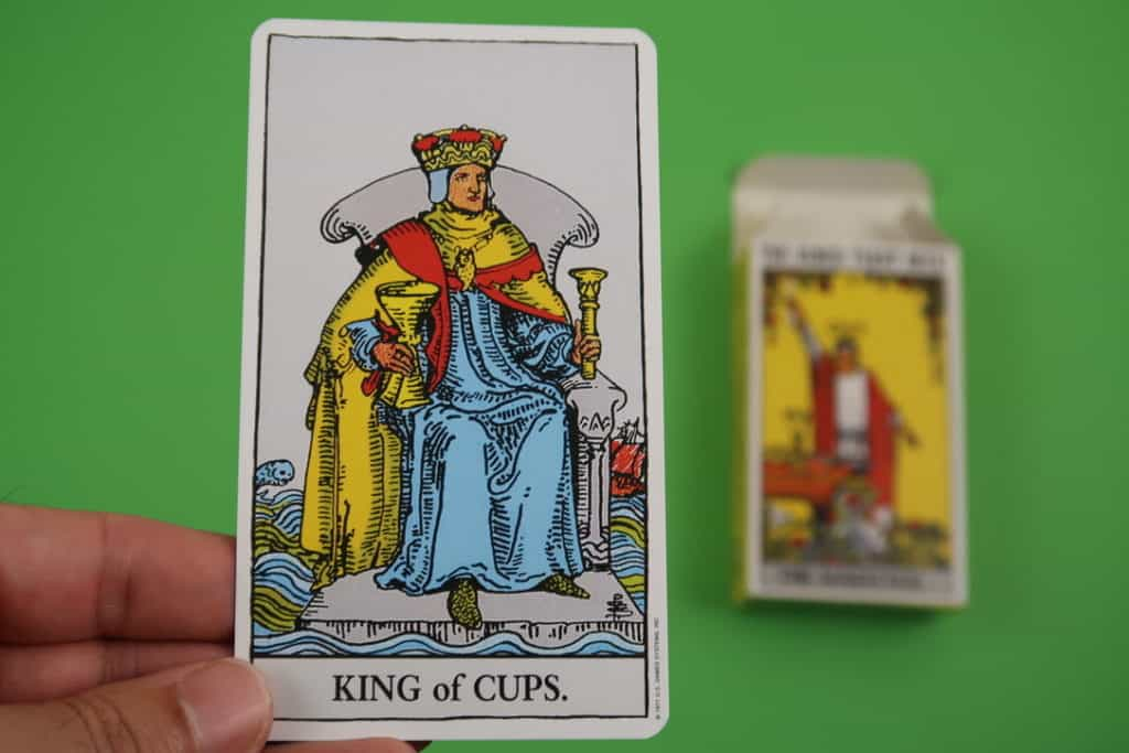 Psychic card reading of The King of Cups Upright Rider Waite