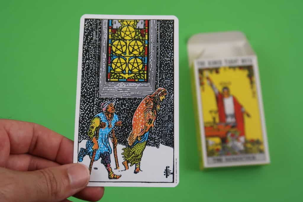 Psychic reading of The Five of Pentacles Upright