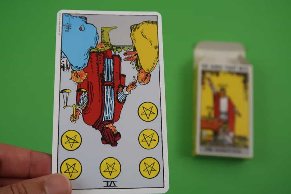 Psychic representation of The Six of Pentacles Reversed