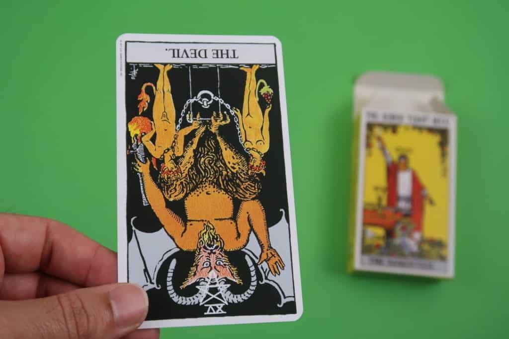Psychic card reading of The Devil Reversed by Yocean Yogi