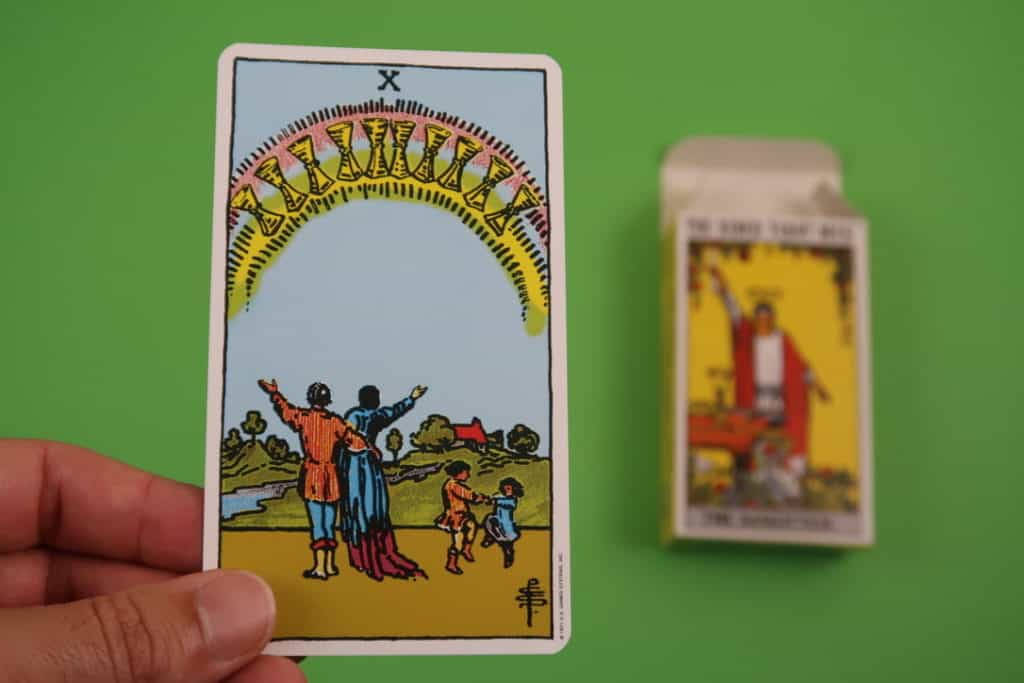 psychic love reading 10 of Cups Upright