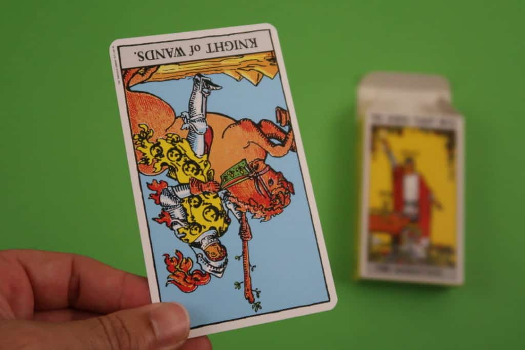 Psychic reading of The Knight of Wands Reversed