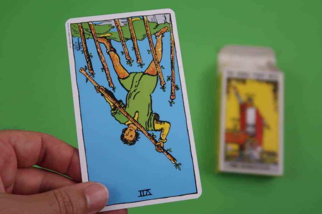 Psychic reading of The Seven of Wands Reversed