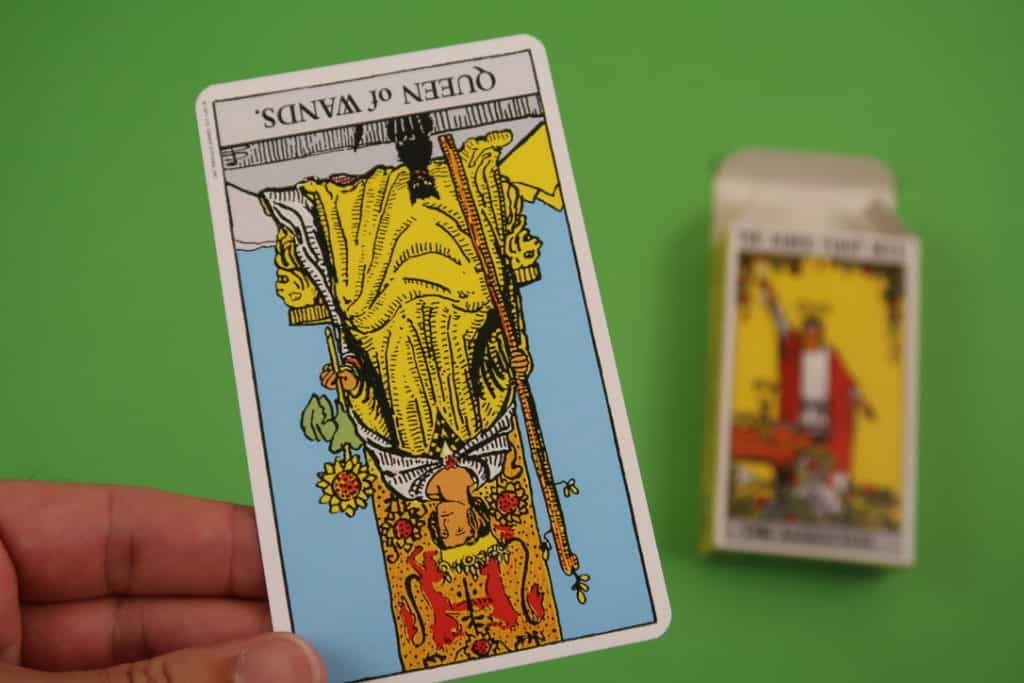 Psychic reading The Queen of Wands Reversed