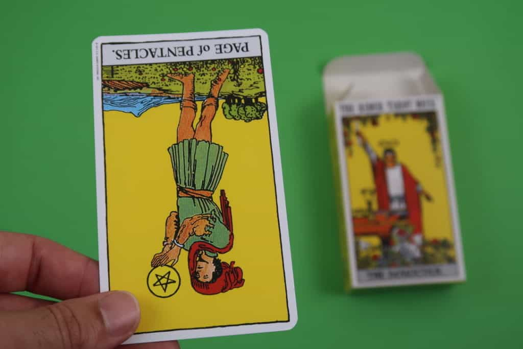 Our psychic reading of The Page of Pentacles Reversed