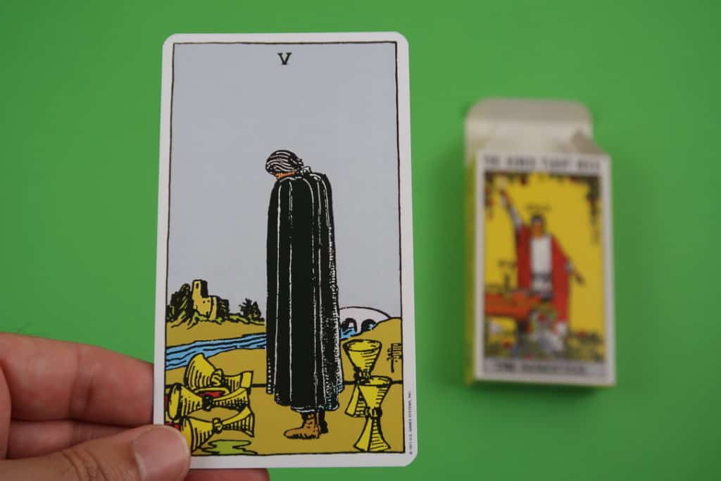 Psychic reading of The Five of Cups Upright
