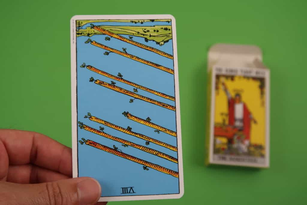 A psychic reading of The Eight of Wands Reversed