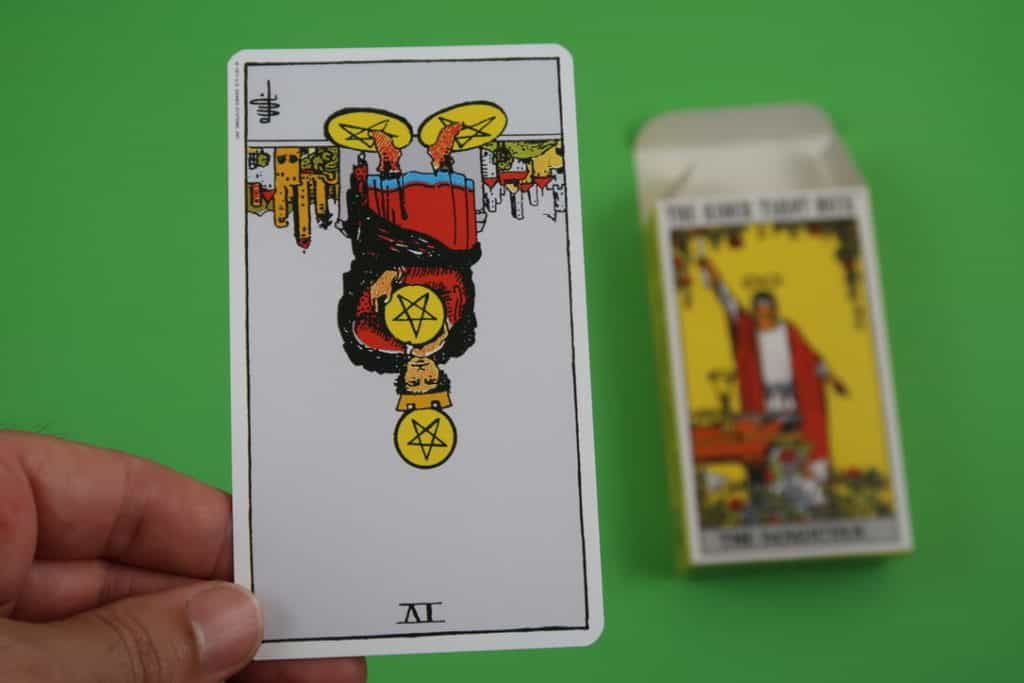 Psychic reading of The Two of Pentacles Reversed