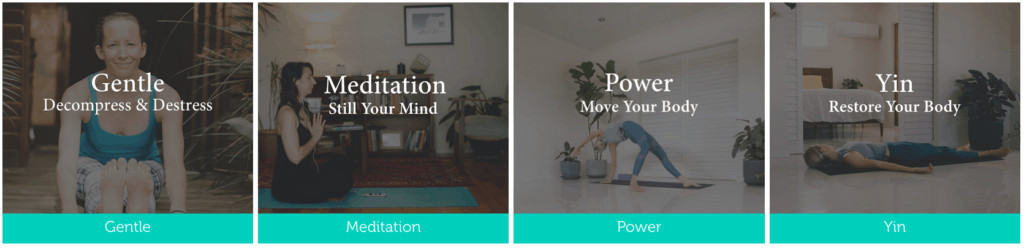 Using the online yoga platform
