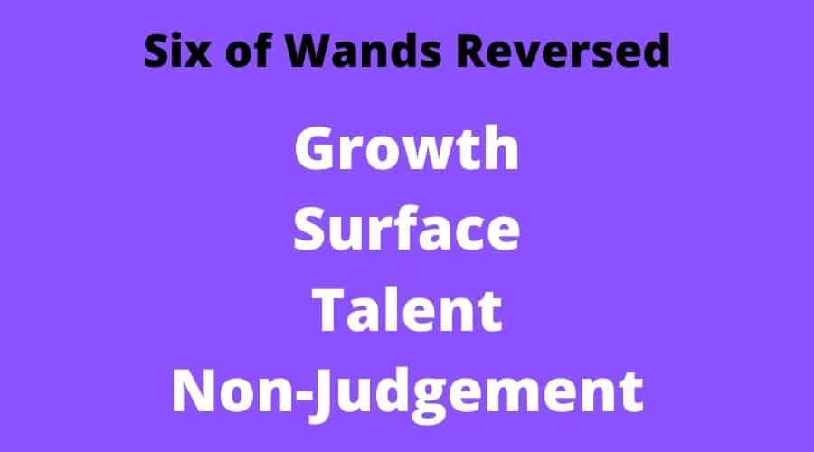 6 wands reversed tarot