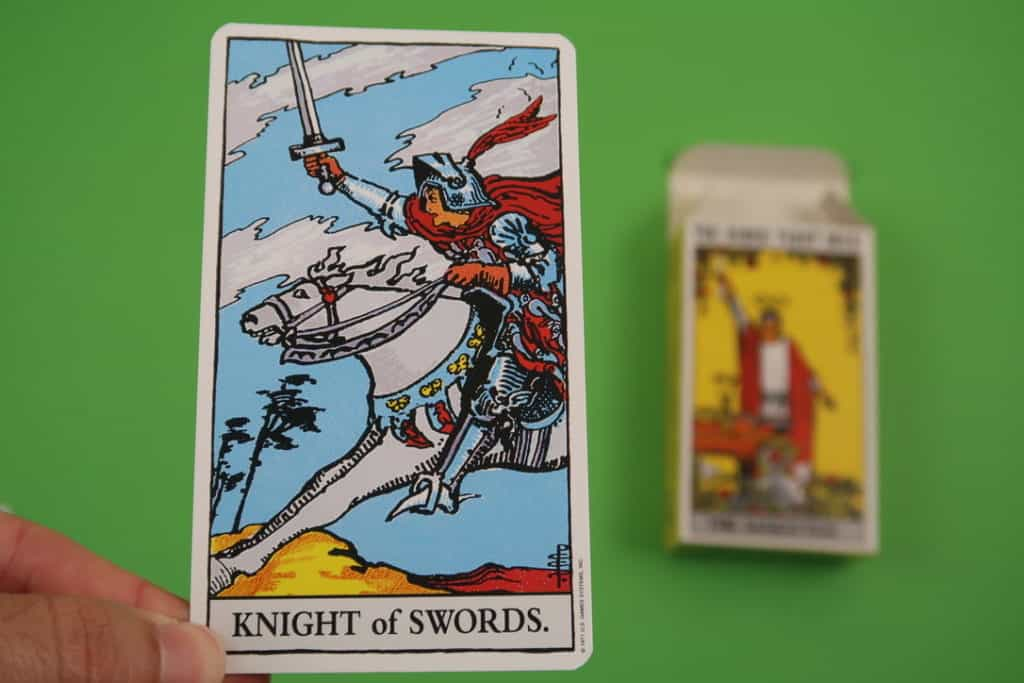Psychic card reading of The Knight of Swords Upright