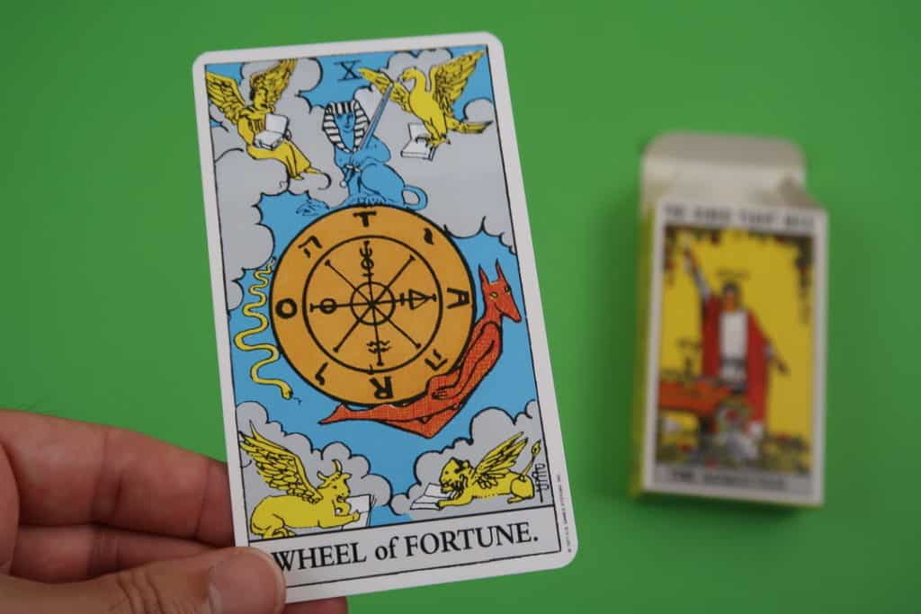 Card reading of The Wheel of Fortune Upright