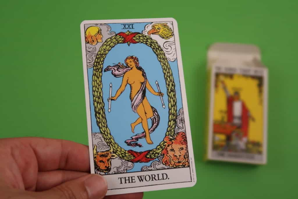 Psychic reading of The World Upright