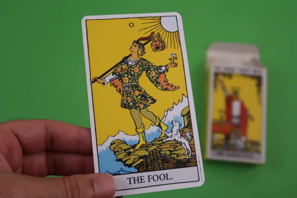 The Fool Upright Psychic reading Rider Waite