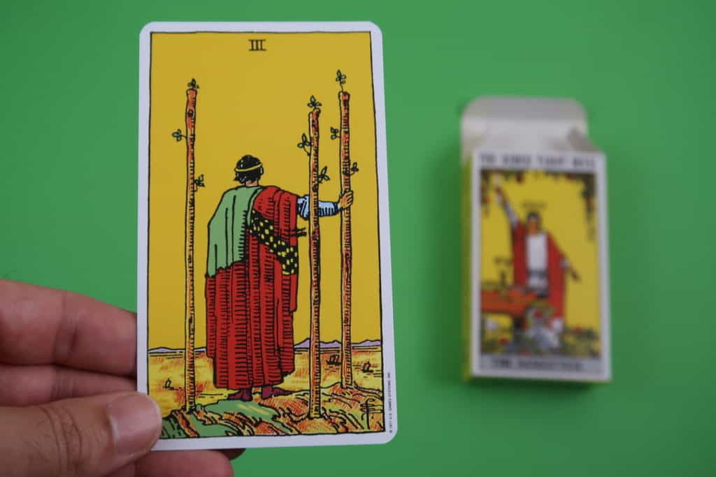 Psychic reading of The Three of Wands Upright