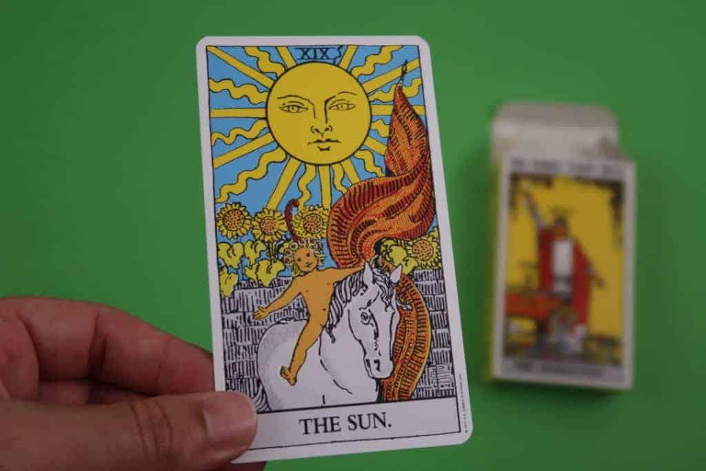 Tarot Card Reading The Sun Upright