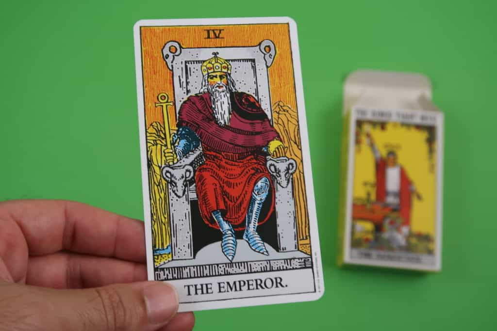 Psychic reading of The Emperor Tarot Upright