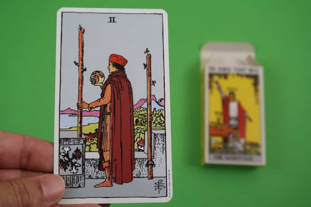 Our psychic reading of The Two of Wands Upright
