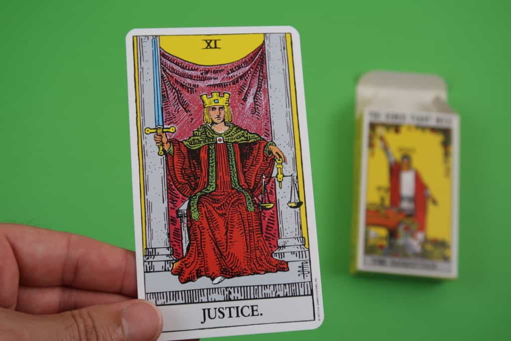 Psychic reading of The Justice Tarot Upright