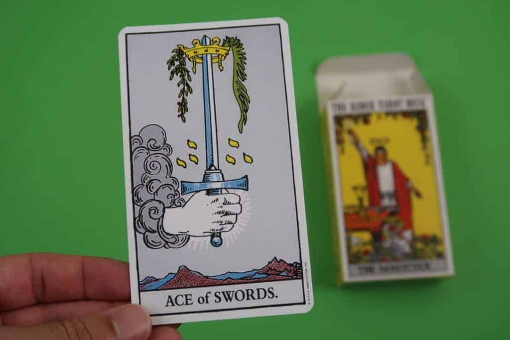 Card reading of The Ace of Swords Upright